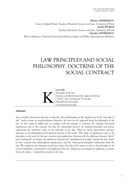 Volume II, Law, Society & Organisations